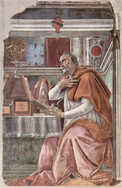 St Augustine, c.1480 - Sandro Botticelli