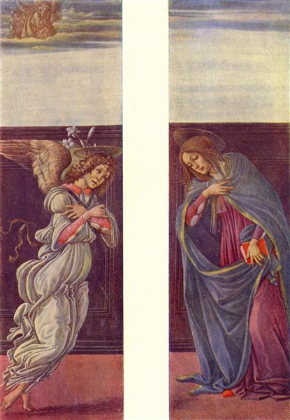The Annunciation, c.1490 - 1500 - Sandro Botticelli