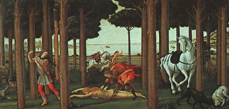 The Story of Nastagio, c.1483 - Sandro Botticelli
