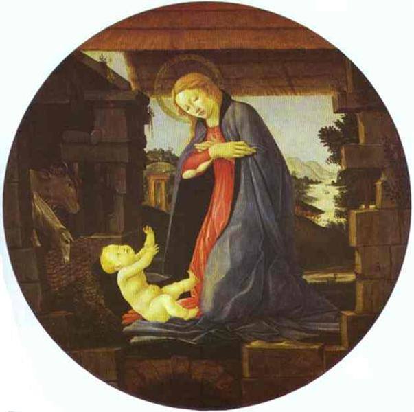 The Virgin Adoring the Child, c.1490 - Sandro Botticelli