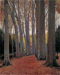 Avenue of Plane Trees - Santiago Rusiñol