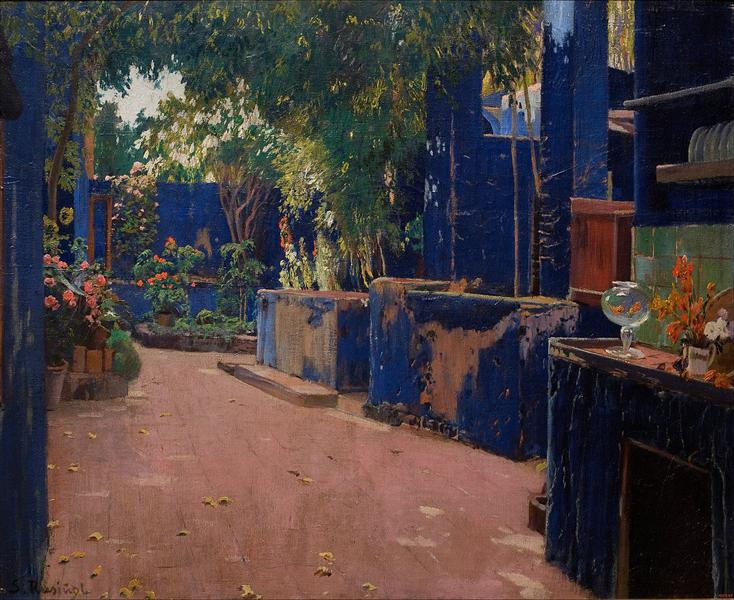 Blue Courtyard, Arenys de Munt, 1913 - Santiago Rusinol