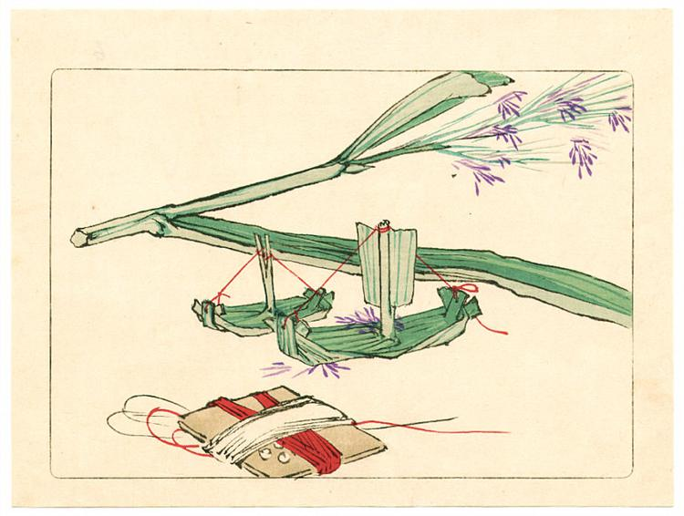 Model Boat - Hana Kurabe, 1878 - Shibata Zeshin