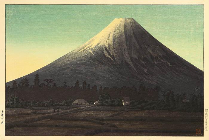 Fuji near Tamaho (green variant), 1936 - Shotei Takahashi