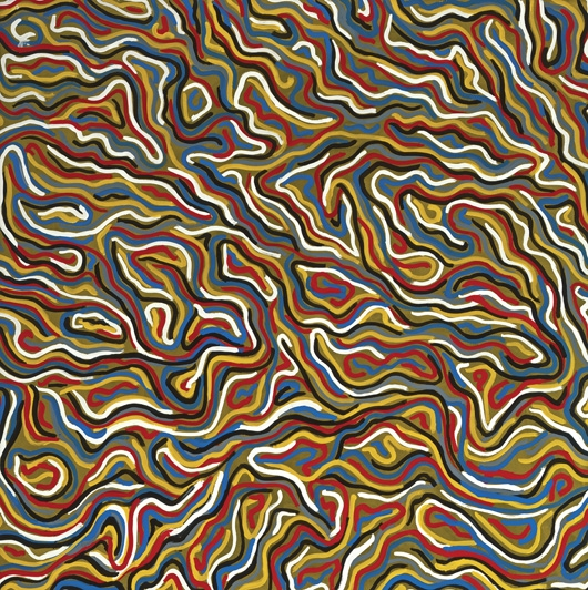 Squiggly Brushstrokes (Olive), 1996 - Sol LeWitt