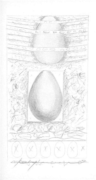 Illustration for Nichita Stanescu's Epica Magna, 1978 - Sorin Dumitrescu
