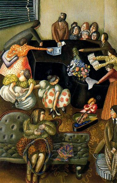 At the Piano, 1957 - Stanley Spencer