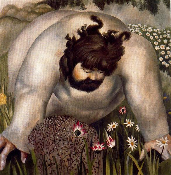Christ in the Wilderness - Consider the lilies - Stanley Spencer