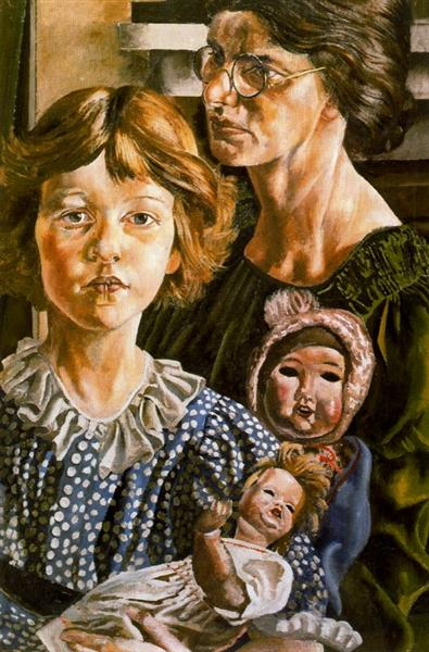 Hilda, Unity and Dolls, 1937 - Stanley Spencer