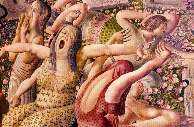 The Resurrection - Waking up - Stanley Spencer