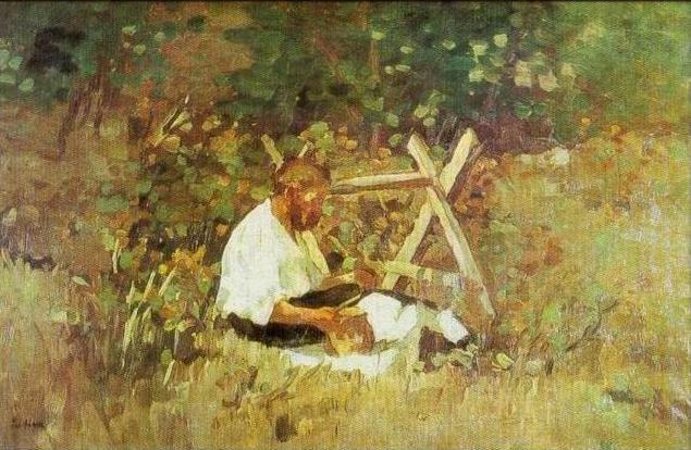 At Nami (wood cutter) - Stefan Luchian