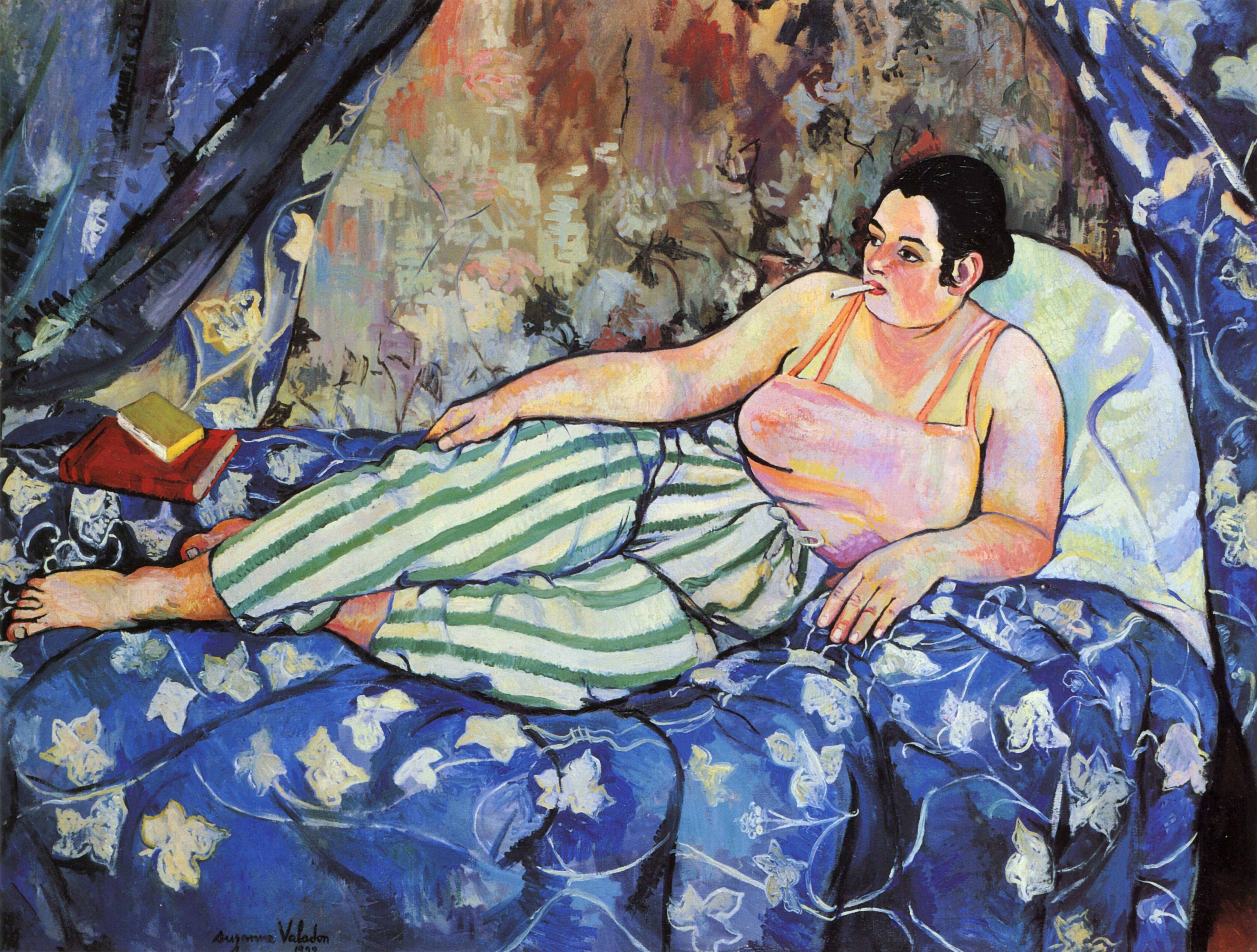 The Blue Room, 1923 - Suzanne Valadon - WikiArt.org