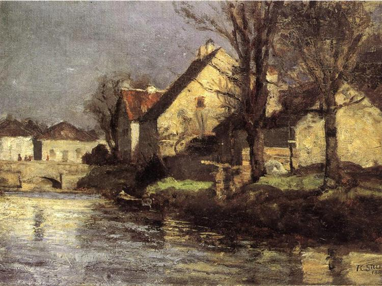 Canal, Schlessheim, 1884 - T. C. Steele