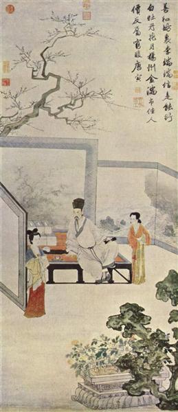 倣唐人仕女圖, 1516 - Tang Yin