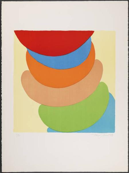 Red, Blue, Orange on Yellow, 1969 - Terry Frost