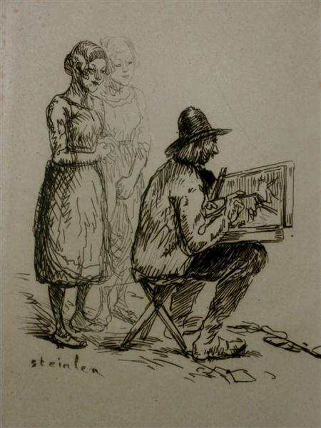 Artist drawing - Theophile Steinlen