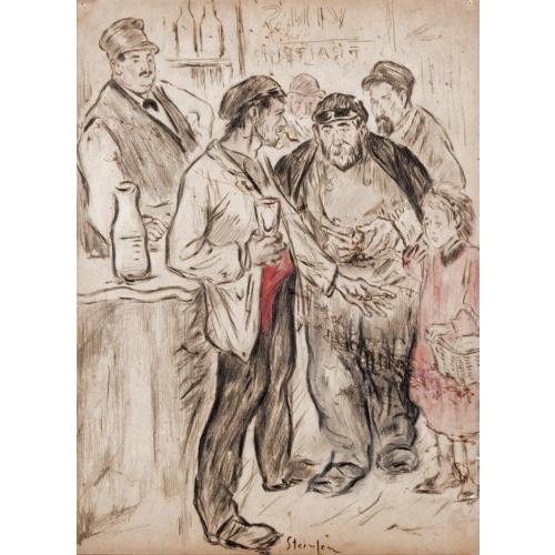 At the bar kids - Theophile Steinlen