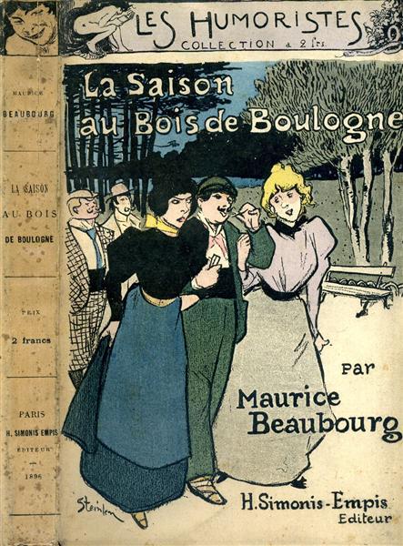 Au Bois de Boulogne par Maurice Beaubourg - Theophile Steinlen