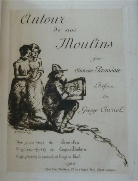 Autour de nos Moulins cover, 1922 - Theophile Steinlen