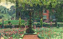 Garden in summer - Théo van Rysselberghe