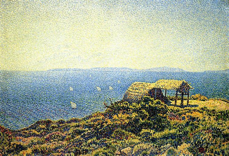 Levant isle, c.1892 - Theo van Rysselberghe
