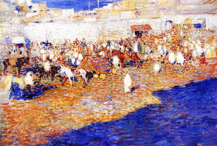 Maroccan Market, 1887 - Theo van Rysselberghe
