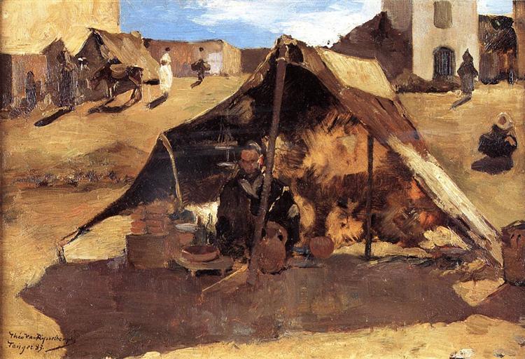Moroccan Market, 1883 - Theo van Rysselberghe