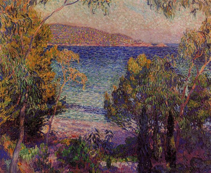 Pines and Eucalyptus at Cavelieri, 1905 - Theo van Rysselberghe