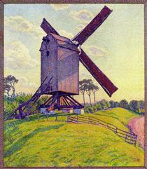 The Mill at Kelf - Théo van Rysselberghe