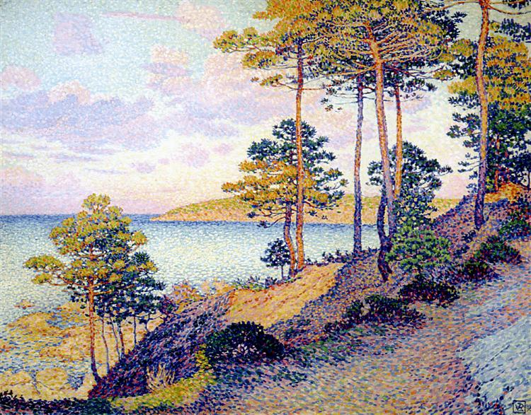 The Pointe St. Pierre at St. Tropez, 1896 - Theo van Rysselberghe
