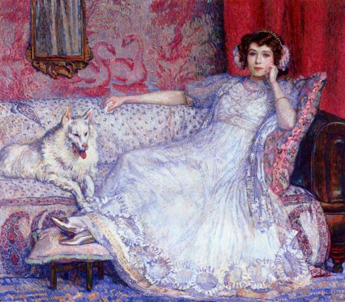 The Woman in White (Portrait of Madame Helene Keller), 1907 - Theo van Rysselberghe