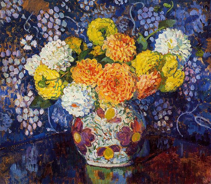 Vase of Flowers, 1907 - Theo van Rysselberghe