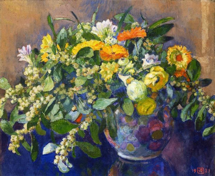 Vase of Flowers, 1923 - Theo van Rysselberghe