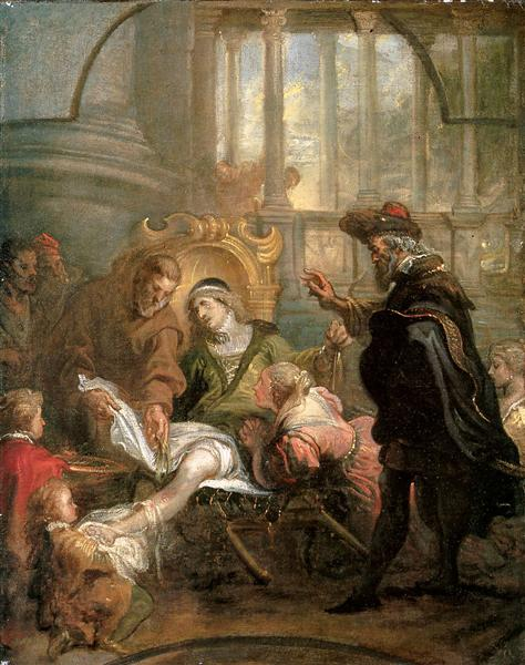 Holy Franciscus heals Giovanni di Carat - Theodoor van Thulden