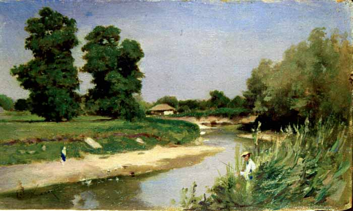 Landscape With River and Trees