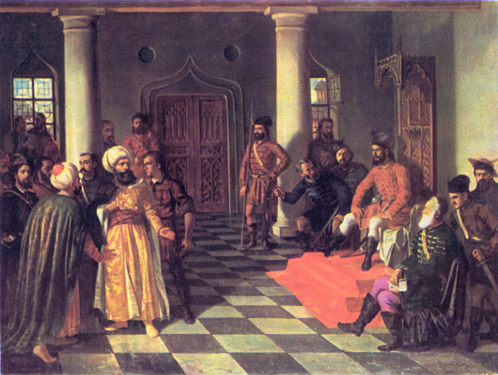 Vlad the Impaler and the Turkish Envoys - Theodor Aman