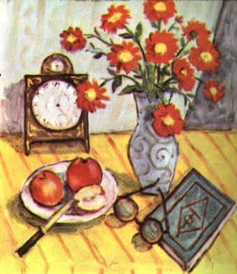 Still Life with Red Flowers - Теодор Паллади