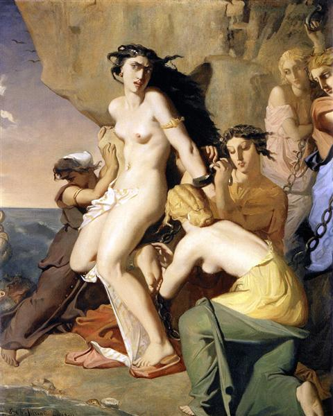 Andromeda Chained to the Rock by the Nereids, 1840 - Theodore Chasseriau