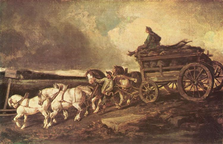 Coal cars, 1821 - 1822 - Théodore Géricault