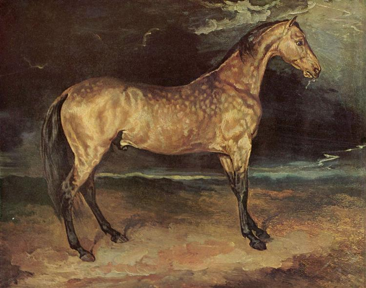 A Horse frightened by Lightning, 1813 - 1814 - Théodore Géricault