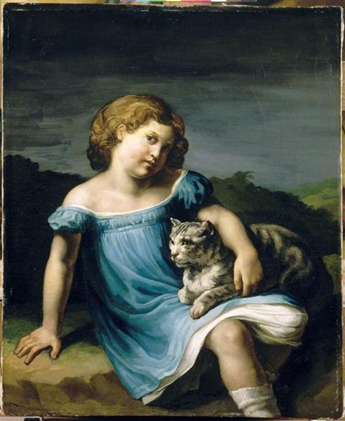 Portrait of Louise Vernet as a Child, 1818 - 1819 - Theodore Gericault