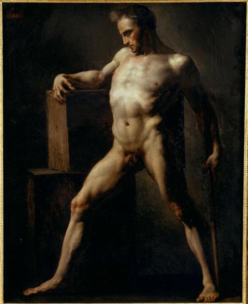 Study of a Man, c.1808 - c.1812 - Théodore Géricault