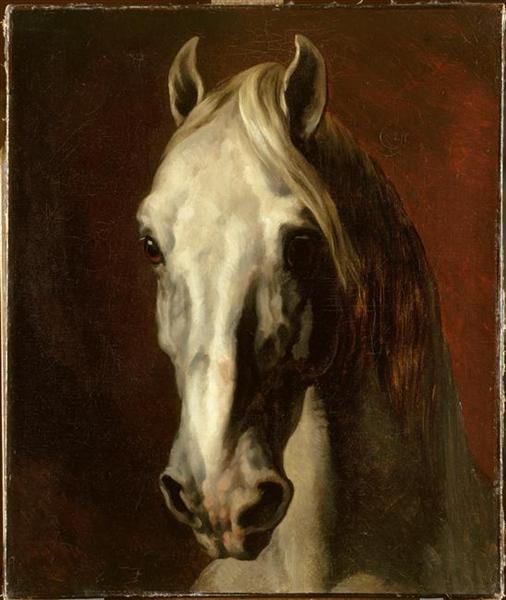 The head ofwhite horse, 1815 - Théodore Géricault