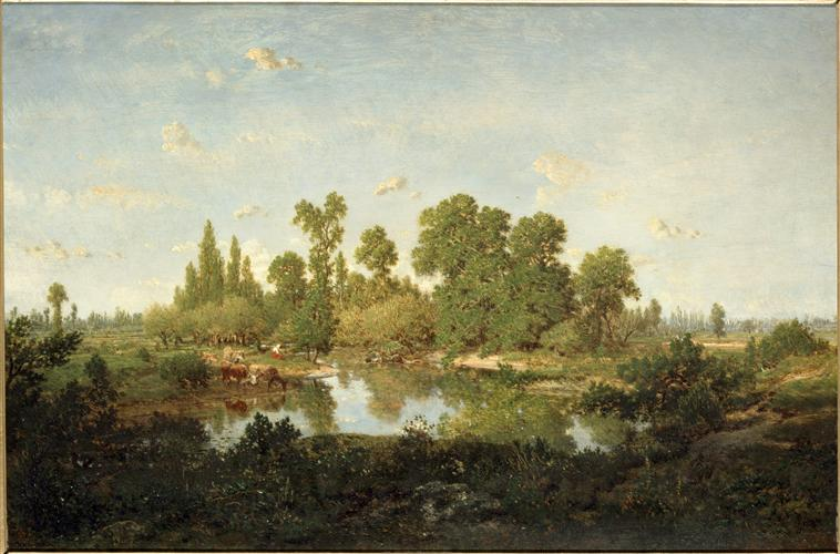 Morning theodore rousseau for Barbizon peintre