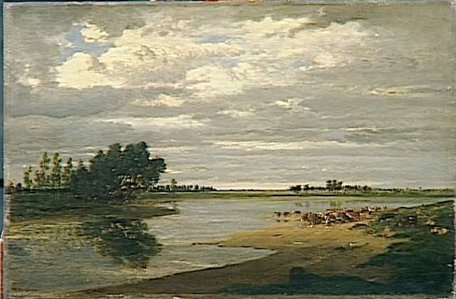 The SeineatVilleneuveSt.Georges - Théodore Rousseau