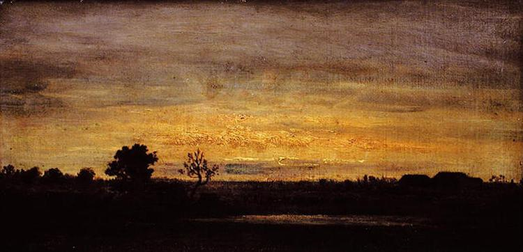 Twilight in Sologne, 1867 - Theodore Rousseau