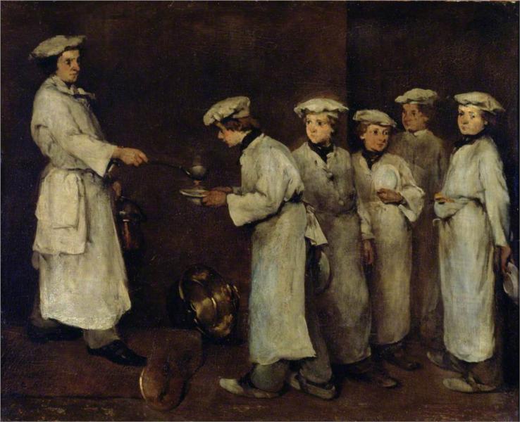 Kitchen Scene - Theodule Ribot