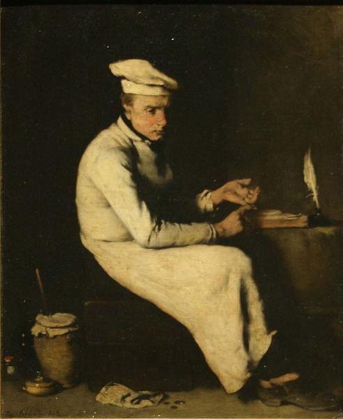 Le cuisinier comptable, 1862 - Theodule Ribot