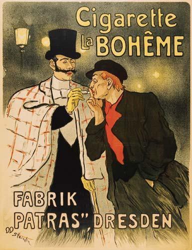 Cigarette La Boheme, 1879 - Theophile Steinlen