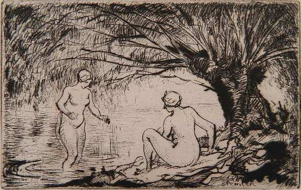 Deux Baigneuses - Theophile Steinlen